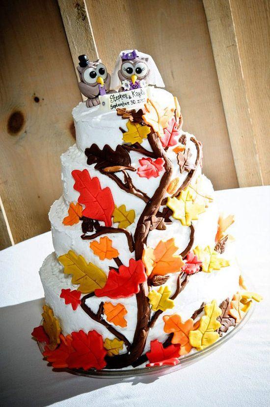 Owl love bird custom wedding cake topper chocolate by PerlillaPets