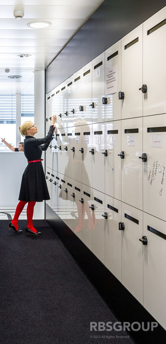 Writable Lockers: Compass Groups New Offices