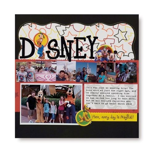 Disney Creative Memories scrapbook layout