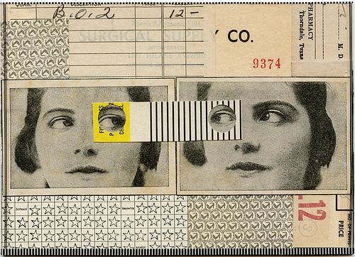 Two-Faced, 2012.  Collage by Angelica Paez.