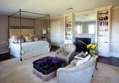 Love The Hint Of Purple.  #bedroom #decor #home_decor #interior #interior_design #luxury #room