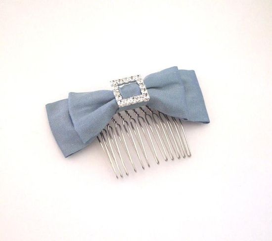 Bridal Hair Accessory  Bow Comb with by WhitePoppyBridal on Etsy, $30.00