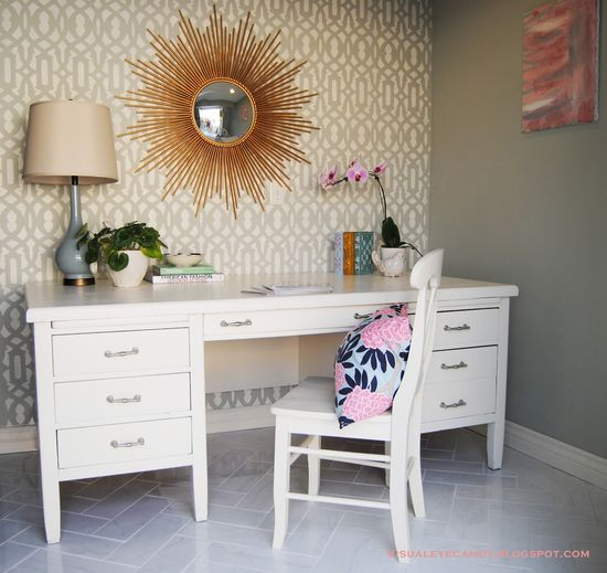 Visual Eye Candy: Girly Glam Office Reveal