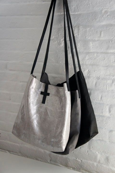 Linen Bag - Silver, Grey or Black