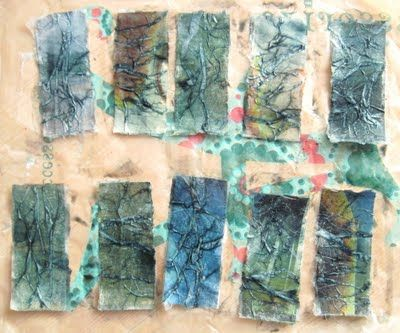 This Crafting Life: Making textured paper backgrounds... part 2 - tutorial by Helen Smith; thanks!