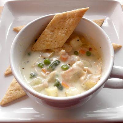 chicken pot pie soup - yum!