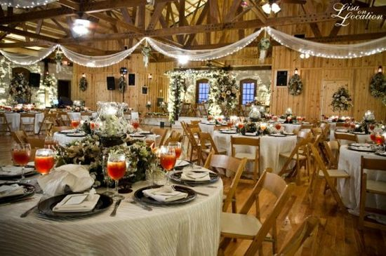A festive winter wedding reception by Gabriel Springs by The Springs Events!