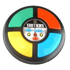 Loved Simon! My grandma had this game and we used to play it for houses, sitting cross-legged, on the shag carpet at her house. #games #Simon #1980s #1990s #nostalgia #childhood #retro