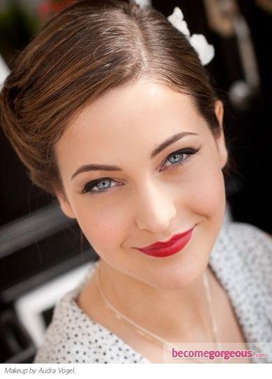 Vintage style make-up