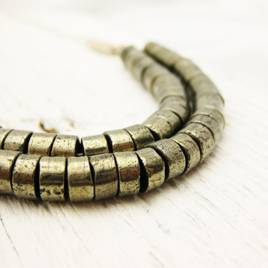 pyrite necklace by byjodi on etsy