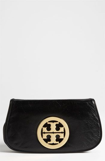 Tory Burch Logo Flap Clutch available at #Nordstrom