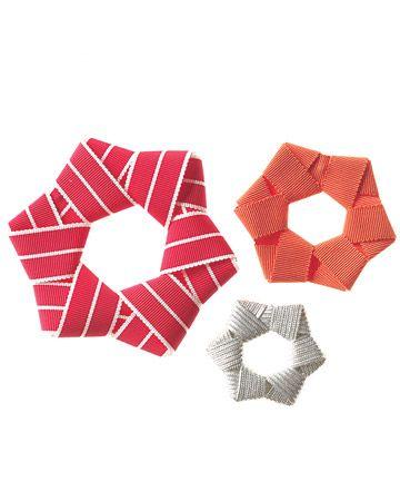 Ribbon Star Ornaments