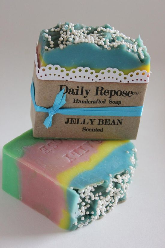 JELLY BEAN Soap Scented EASTER Vegan Cold Process