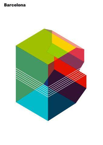 Colour + 3d = logo love