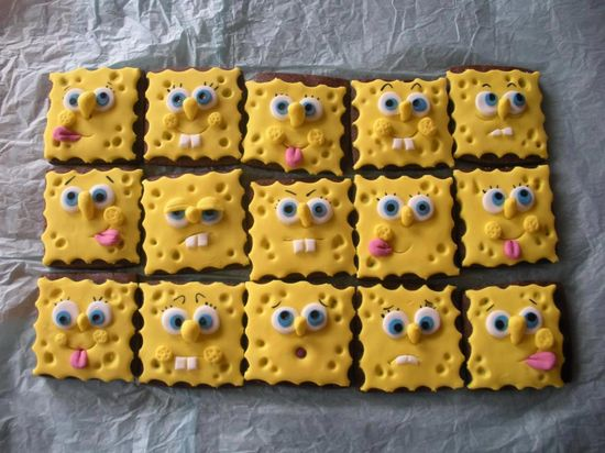 Sponge Bob cookies for the child in everyone of us :)