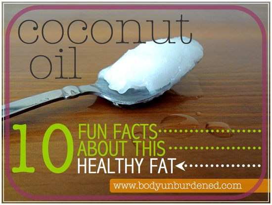 Did you know that coconut oil can help speed the metabolism, neutralize free radicals, and boost the immune system? Find out more. 10 fun facts about this healthy fat. Health, diet, and nutrition.