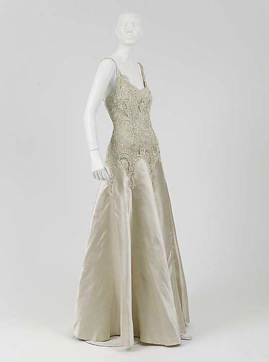 1930s Chanel vintage Dress, Evening