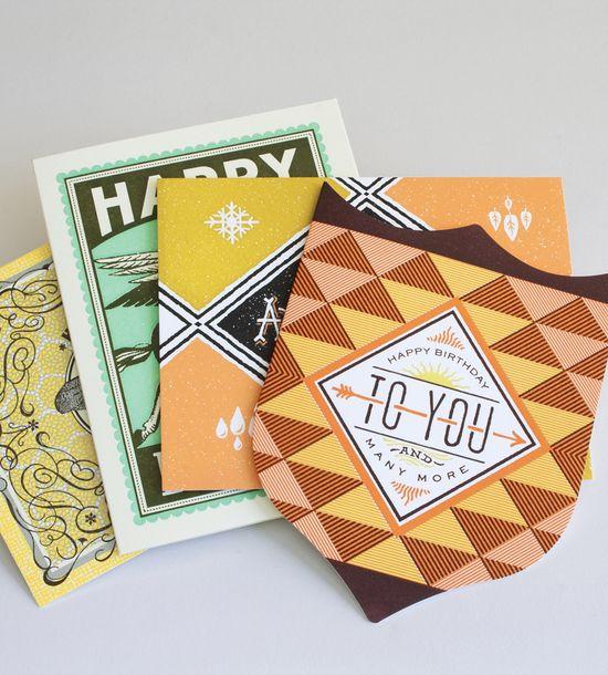 Letterpress Birthday Cards – Pack of 4