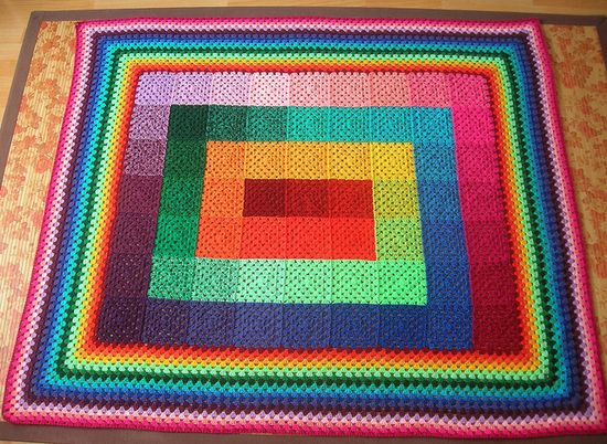 granny square blanket-very cool