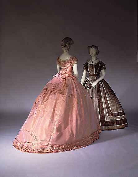 Evening Dress: British, silk, c. 1866