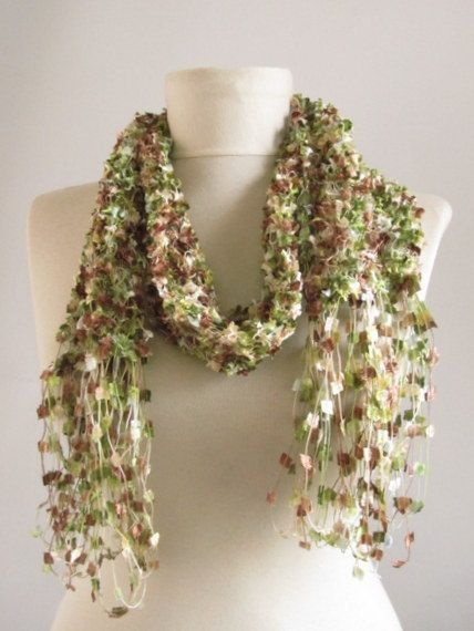 FREE ShippingMulticolor AutumnFall Crochet  Scarf by asuhan, $20.00