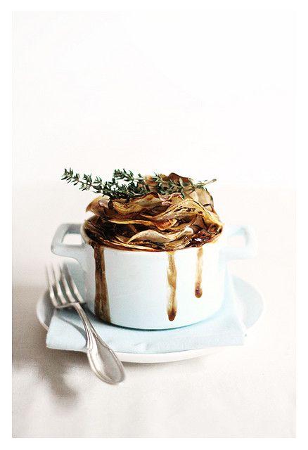 Chicken, mushroom, & potato pot pies