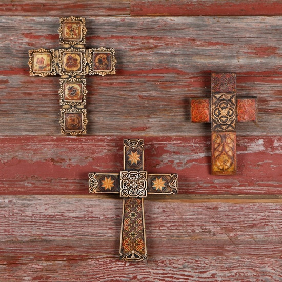 Garden decor: French Gothic Crosses.