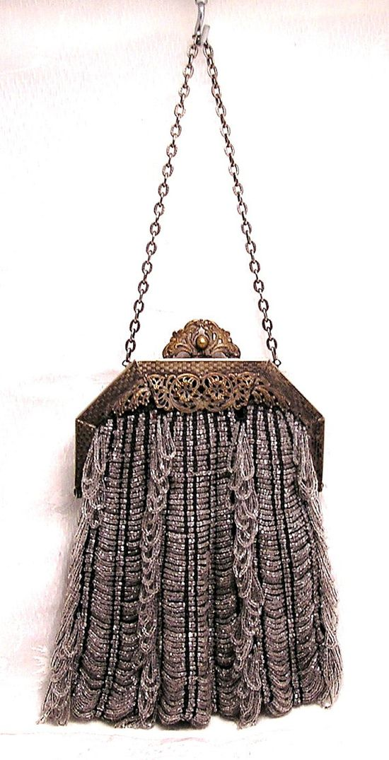 Antique Vintage 1920s Beaded Purse Beautiful Frame by luvintage, $150.00