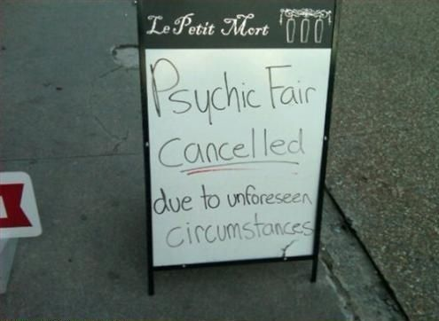 .psychic fail!