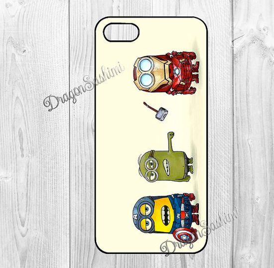 Retinue- iphone 5 case iphone 5s case iphone 5c case Hard plastic Soft rubber iphone 5 5s 5c  cover Despicable Me on Etsy, $7.90