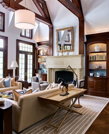 British tailoring in a Connecticut home...  Thanks to Zhush Blogspot for the photo!