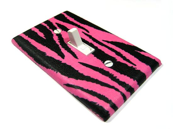 Hot Pink and Black Zebra Stripes Bedroom Decor by ModernSwitch, $6.00