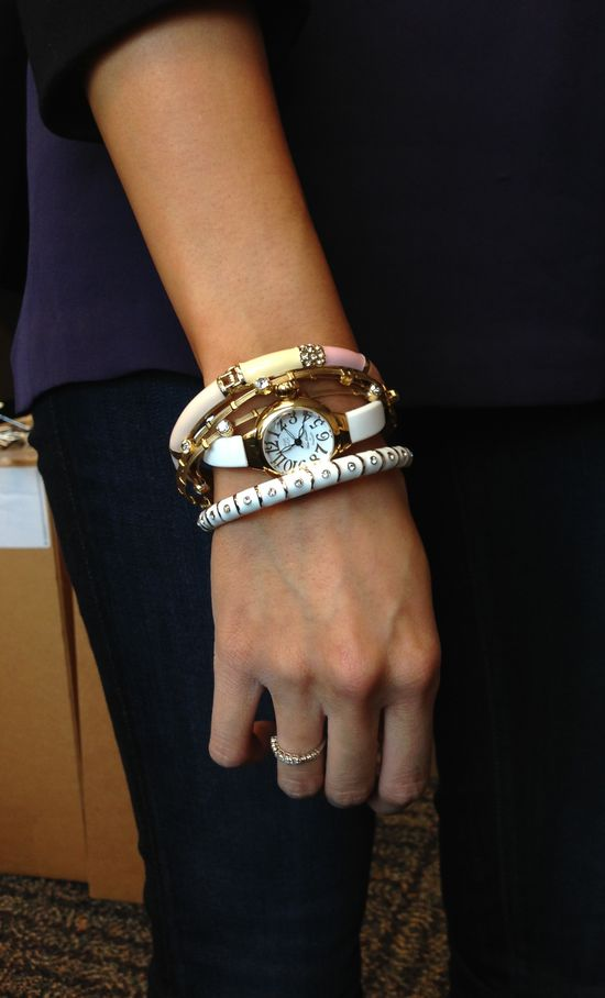 Miami Beach by Glam Rock watch & Sequin bangles #stackedwrist #nordstrom