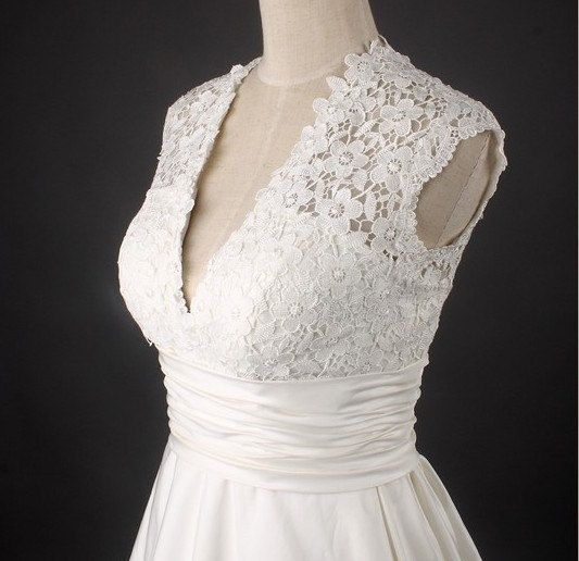 Custom make Vintage Wedding Dress A LINE Bridal Gown by wonderxue, $172.00