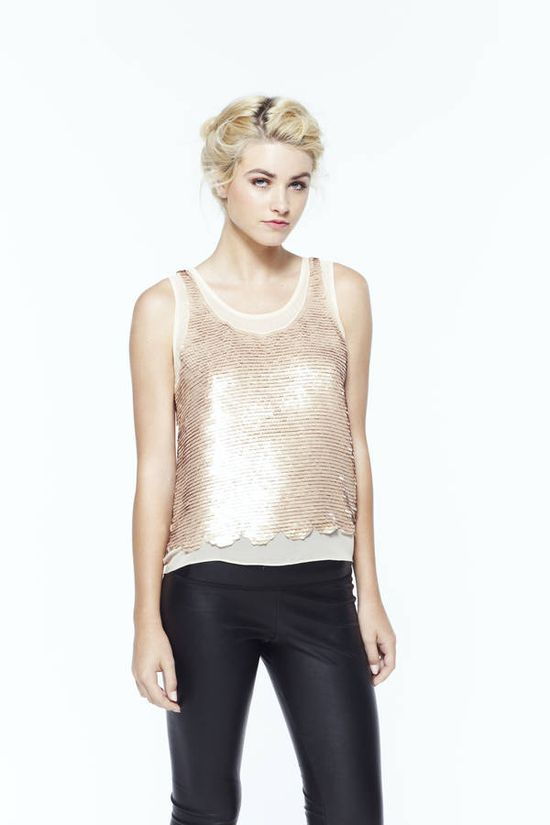 paper crown: helm sequin top