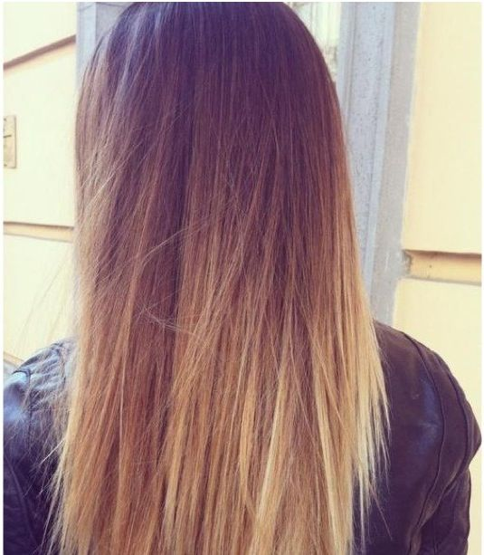 Beautiful straight ombre hair.
