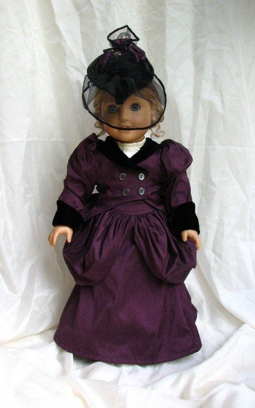 Victorian Walking Ensemble 18in Doll Dress e-pattern download pdf. $8.00, via Etsy.