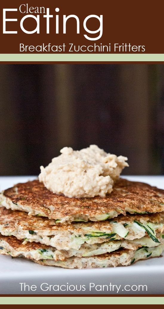 Clean Eating Breakfast Zucchini Fritters.  #cleaneating #cleaneatingrecipes #glutenfree #glutenfreerecipes