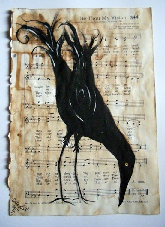 Crow Be Thou Vision Original Painting by AGambrel on Etsy,