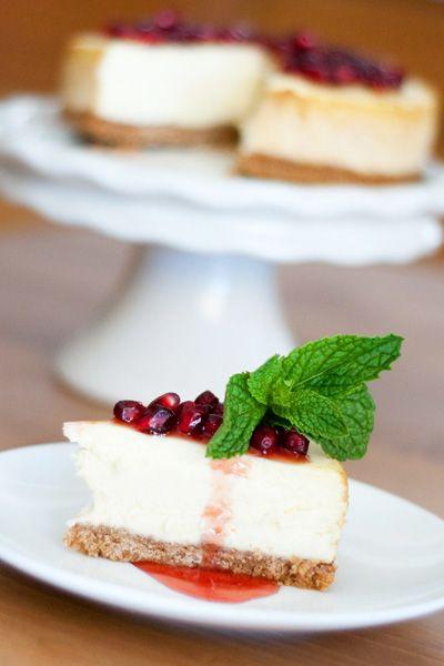 Pomegranate cheesecake recipe