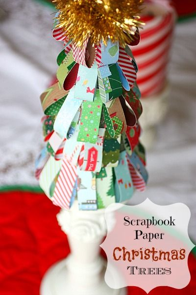 Adorable Paper Christmas Trees that take just ten minutes to make. @beautyandbedlam.com