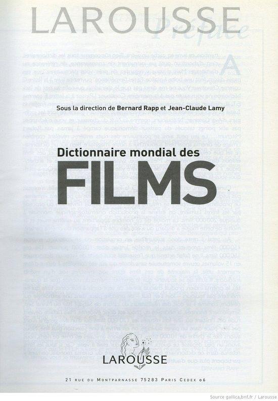 Dictionnaire mondial des films : 11000 films du monde entier / sous la dir. de Bernard Rapp, Jean-Claude #Korean Films Photos