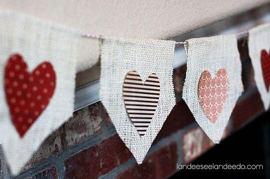 no-sew valentine banner