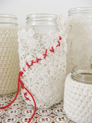 lovely collection of white jars