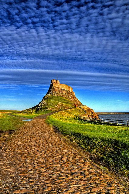 The Holy Island of Lindisfarne > Northumberland > England > Great Britain > United Kingdom > Europe. It is a tidal island and also known just as Holy Island.