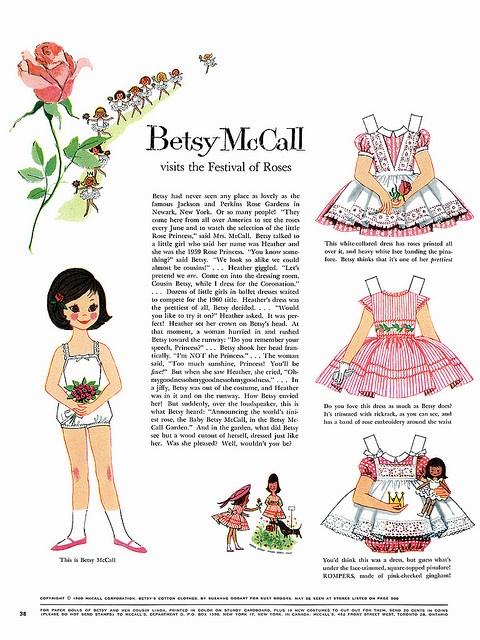 1960 Paper Doll.  I loved Betsy McCall!