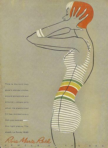 Vintage Ads: Rose Marie Reid swimsuits, 1950s