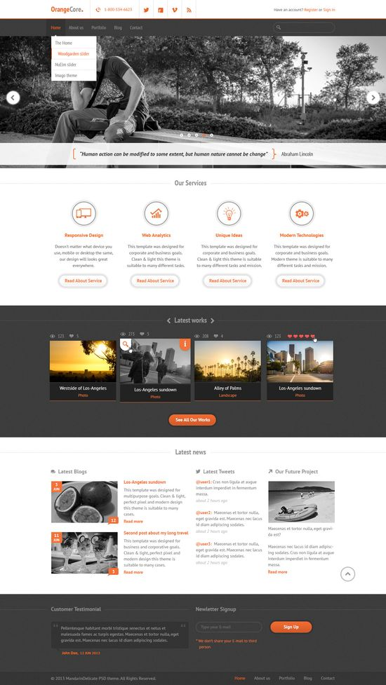 amazing web design ideas clean corporate web design