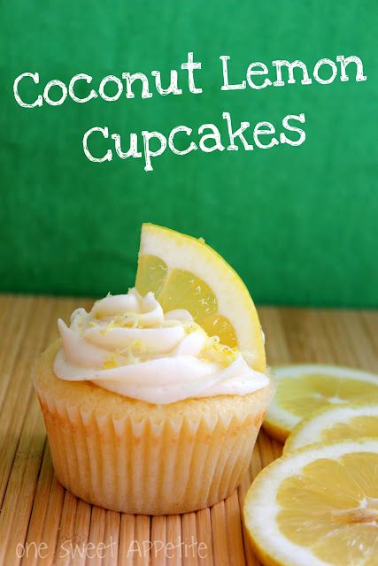 Coconut cupcakes with lemon ...perfect for Spring! #recipes #desserts