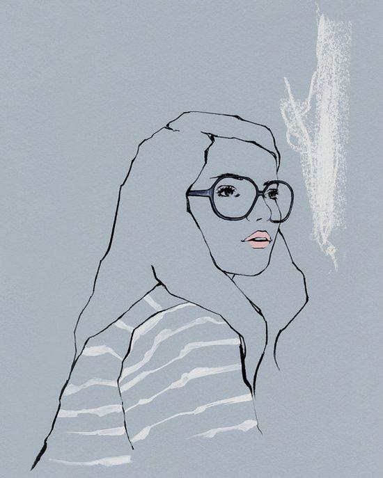 'Study Hard'    Illustration by emma leonard